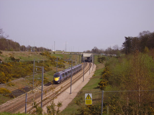 A Javelin passes Ashenbank Wood