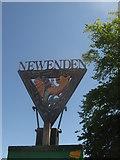 TQ8327 : Newenden Village Sign (close-up) by David Anstiss