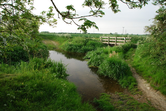 Ford and Footbridge on the Old River Slea at Evedon