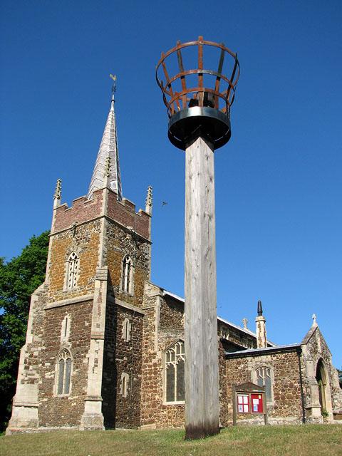 Beacon south-west of St Edmund's church, Downham Market