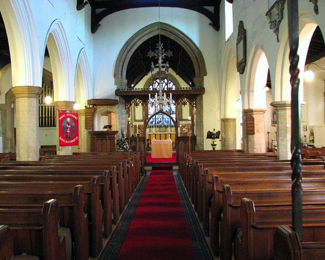 St Edmund's church in Downham Market - view east