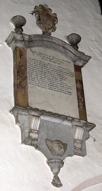 St Edmund's church in Downham Market - C18 memorial