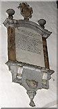 TF6103 : St Edmund's church in Downham Market - C18 memorial by Evelyn Simak