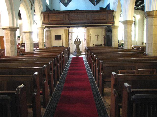 St Edmund's church in Downham Market - view west