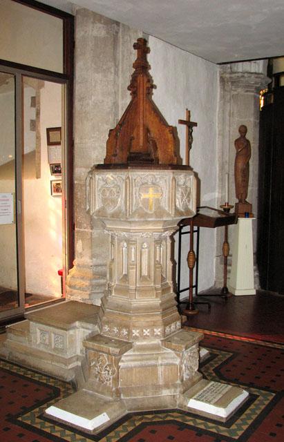 St Edmund's church in Downham Market - baptismal font