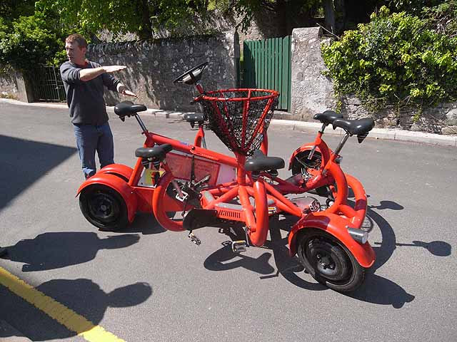 """The """"Conference"""" bike, Millport"""