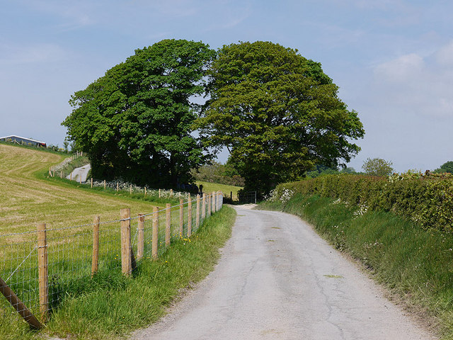 Minor road heading north past Waunfergi