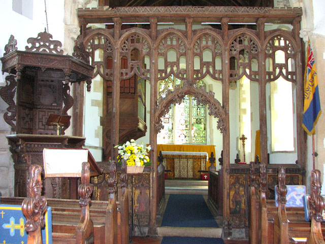 St Mary's church in Yaxley - rood screen