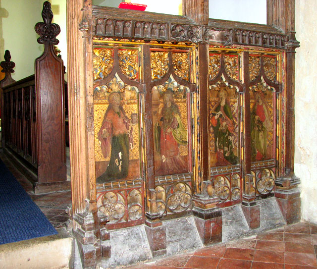 St Mary's church in Yaxley - rood screen panels