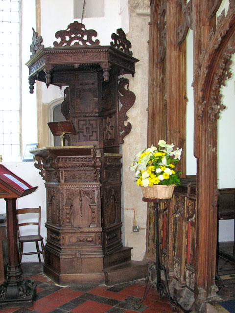 St Mary's church in Yaxley - Jacobean pulpit