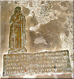 TM1273 : St Mary's church in Yaxley - C16 brass by Evelyn Simak