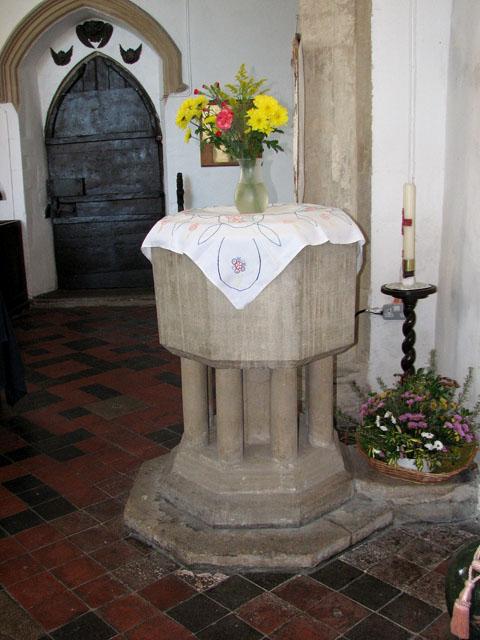 St Mary's church in Yaxley - baptismal font