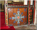 TF9323 : St Edmund's church in Horningtoft - rood screen (panels) by Evelyn Simak