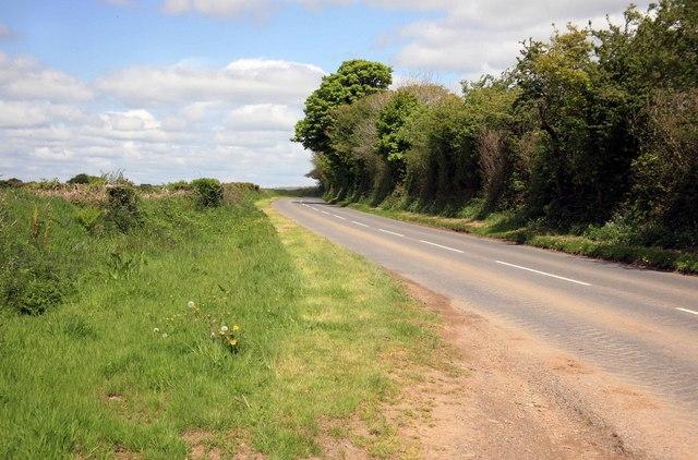 The B3257 Bere Alston road