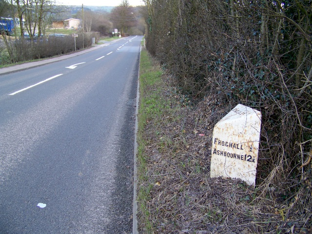A52 and milepost, Kingsley