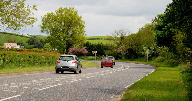 The Carryduff Road near Ballynahinch (2)