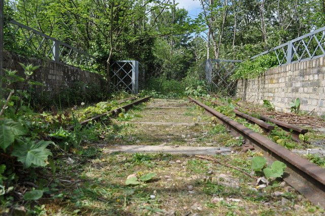 Old Rail on the Concrete Bridge