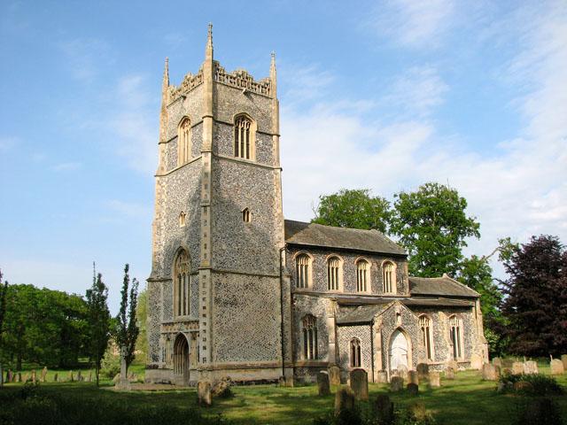 All Saints' church in Hilborough