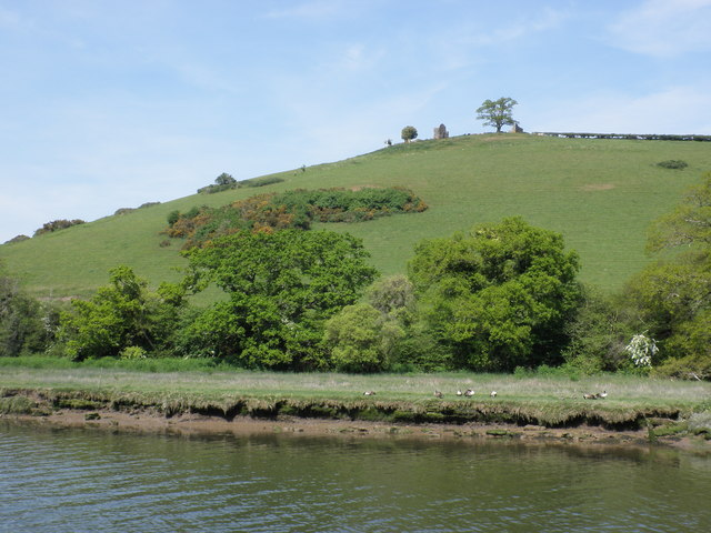 Ruined building on the hillside, above the River Dart