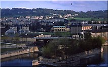 ST7564 : Looking across the River Avon in Bath (1976) by Peter Shimmon