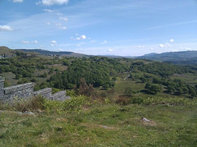 Overlooking Cwm Bowydd
