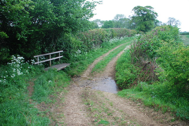 Ford and Footbridge on Bridleway to Driby