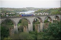 SW7834 : College Wood viaduct on the Falmouth line by roger geach