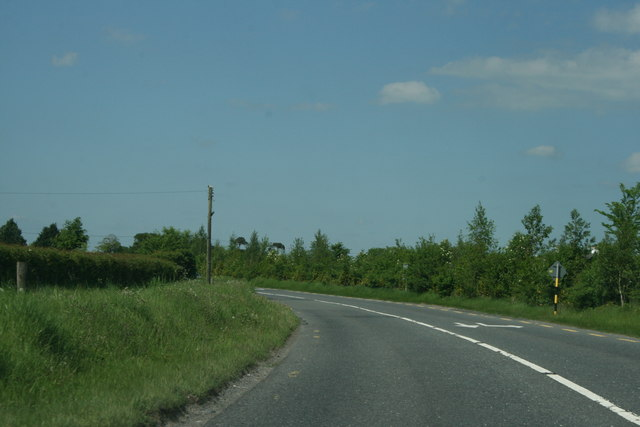 A bend in the road, County Kildare