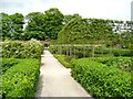 NU1913 : A path across the Walled Garden, Alnwick by Humphrey Bolton