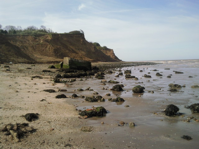 The crumbling cliffs of Warden Point