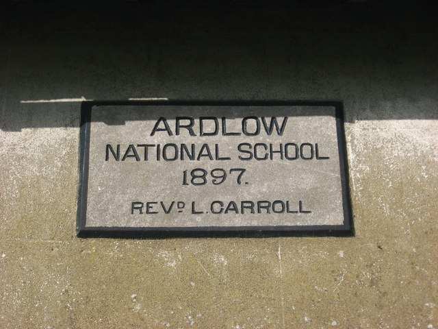 Plaque on Ardlow National School, Virginia