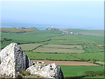 SM8938 : View North from Garn Fawr,  Pembrokeshire coast by Derek Voller