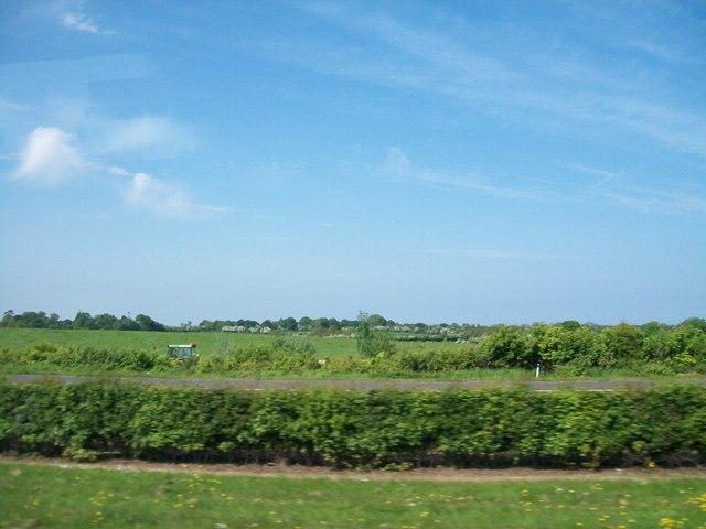 Farmland east of the M1 near Dardistown
