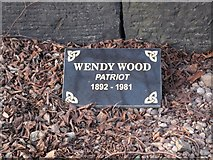 NT2674 : Memorial to Wendy Wood by Tony Fisher