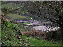 SW9541 : Coastal Path above West & East Portholland by Chris Andrews