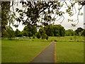 SP0280 : Path across Northfield Manor Farm Park by Andrew Abbott