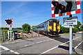 TM4188 : Unit 156422 speeds past the level crossing by Ashley Dace