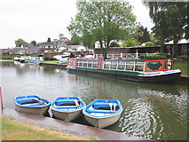 SS9612 : Boats for hire, Tiverton canal basin by Roger Cornfoot
