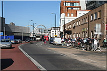 TQ3382 : Shoreditch:  Bethnal Green Road by Dr Neil Clifton