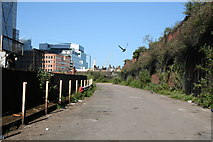 TQ3382 : Shoreditch:  Ramp to the old Bishopgate Goods Station by Dr Neil Clifton