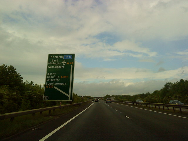 A42 at junction 13