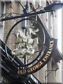 NZ2464 : Sign at the entrance to Old George Yard, Cloth Market, NE1 by Mike Quinn