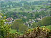 SK2572 : Looking down on Baslow village by Andrew Hill