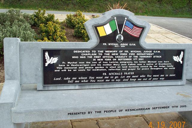 Fr. Mychal Judge Memorial Near Keshcarrigan