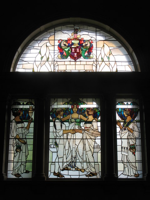 Arts and Crafts Stained Glass Window, The Laing Art Gallery, New Bridge Street, NE1