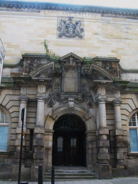 Entrance to The Laing Art Gallery, Higham Place, NE1