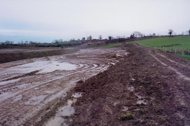 Motorway construction at Balloy, Co. Meath