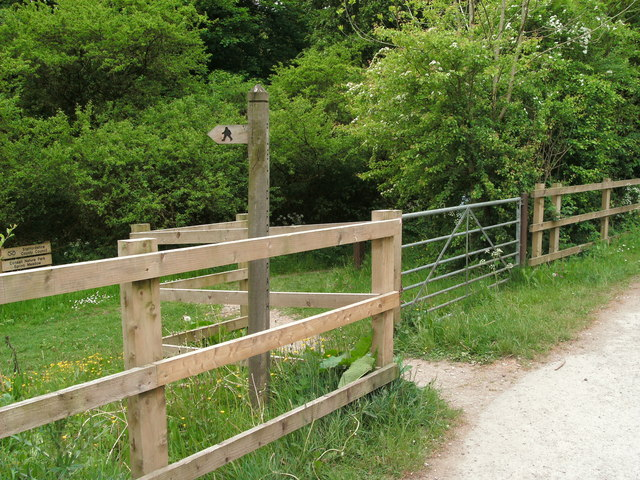 Signpost for Consall Wood Nature Reserve