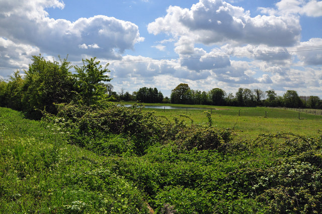 View toward flooded gravel extraction area - Stirtloe