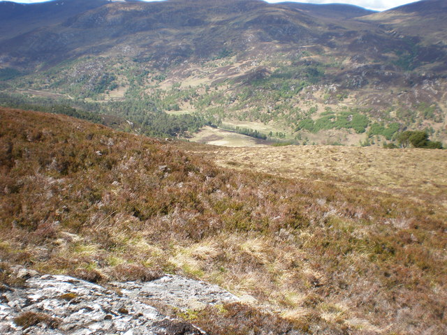 Looking down to Glen Strathfarrar across Strathfarrar Nature Reserve